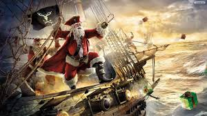 santa claus merry christmas pirates wallpaper free download