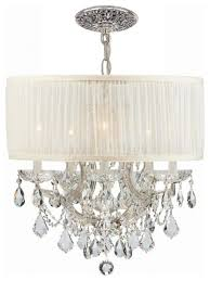 Thomasville Chandeliers Crystorama Brentwood 6 Light Swarovski Crystal Chrome Drum Shade