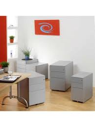 Silverline Filing Cabinet Metal Pedestal 2 Filing Drawers Meridian Office Furniture