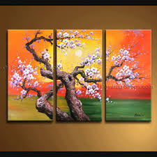 contemporary wall art landscape painting tree interior design
