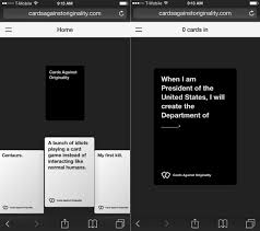 cards against humanity black friday amazon cards against humanity iphone and android app now works online
