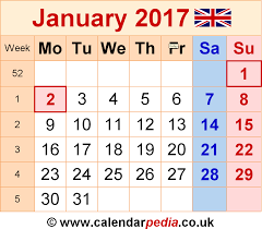 calendar january 2017 uk bank holidays excel pdf word templates