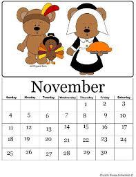 pilgrim and indian printable calendar