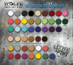 Color Palette Gray Hydrocolor 12 Color Palette Wolfefx