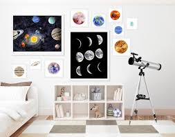 Rooms Decor Gallery Gallery Wall Prints Outer Space Decor Gallery Wall Set