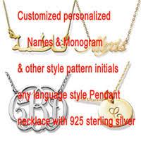 cheap monogram necklace cheap monogram necklace free shipping monogram necklace