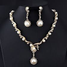 new fashion gold necklace images Buy dk new fashion african women jewelry sets for women pearl jpg