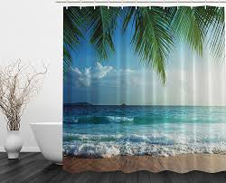 Tropical Home Decor Fabric Amazon Com Palms Ocean Tropical Island Beach Decor Maldives High