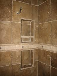 shower wall recessed shelves