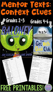 crafting connections context clues read alouds with free printables