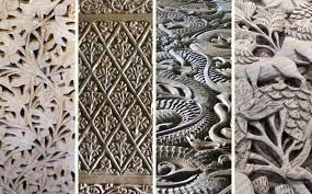 carved wood plank walnut wood carving gaatha ग थ handicrafts