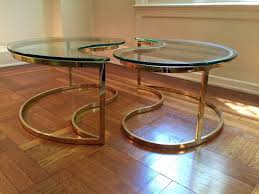 brass tables for sale chic ying yang motiffe brass and glass coffee cocktail table for