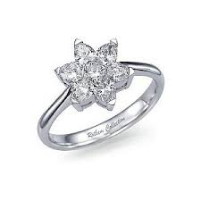flower engagement rings rings flower engagement ring 1ct tw polyvore