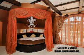 orange canopy bed modern bedroom curtain design canopy bed
