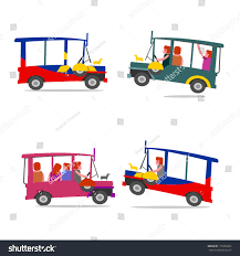 philippine tricycle png philippine jeep cartoon filipino jeep local stock vector 179230283