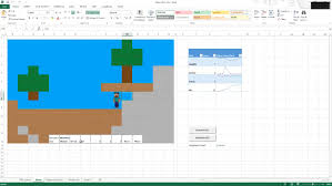 Spreadsheet Microsoft Excel Someone Made A Playable Minecraft For Microsoft Excel