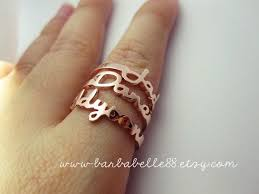 name rings for 25 best name rings ideas on stackable name rings diy