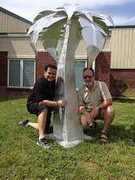 palm tree sculpture in aluminum palm tree contemporary