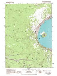 Topography Map Crater Lake Maps Npmaps Com Just Free Maps Period