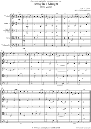 away in a manger string quartet sheet music by christmas violin