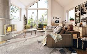 living room large curtain and windows decor modern living room