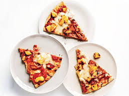 healthy pizza recipes cooking light grilled ham and pineapple pizza