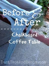 before and after chalkboard coffee table garage sale table turns