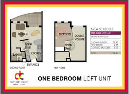 one bedroom loft unit