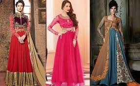 design styles 2017 maxi style anarkali dresses collection frock designs 2017 2018
