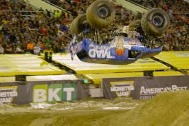 monster truck backflip videos monster truck lands first ever frontflip