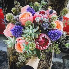 succulent bouquet succulent and protea bouquet pre order in san francisco ca