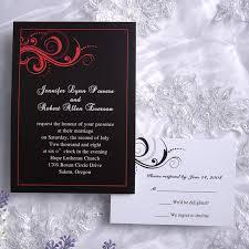 Black Wedding Invitations Elegant Damask Red And Black Wedding Invitations Ewi020 As Low As
