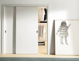 interior white sliding bypass door for bedroom closet cool
