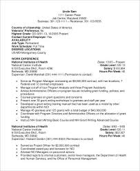 Examples Of Military Resumes by Federal Resumes Template Billybullock Us