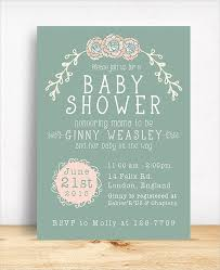 baby shower card 19 baby shower cards free psd vector ai eps format free
