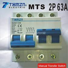 aliexpress com buy 2p 63a mts dual power manual transfer switch