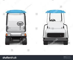 golf cart front rear views stock vector 63304822 shutterstock
