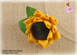 sunflower ribbon lil poppet sunflower ribbon sculpture hair clip or brooch pin