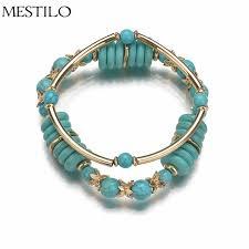 double beaded bracelet images Mestilo accessories fashion double layers charm bracelet simple jpg
