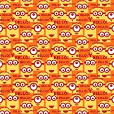 minion wrapping paper cotton fabric character fabric despicable me 1 in a minion