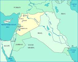 syria on map map of syria