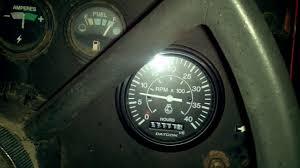 mf 230 tachometer help