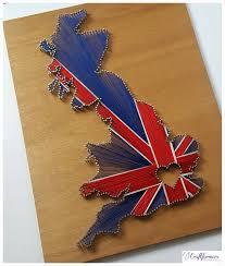 British Flag Nails Personalised Gift Uk String Art Union Jack British Flag