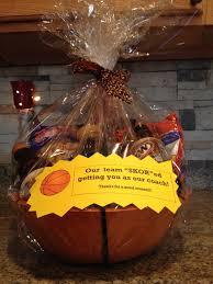 halloween city decorations gift basket for our basketball coach i used a basketball bowl