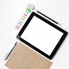 tablette de bureau tablette avec fournitures de bureau photographie ammza12 87684774