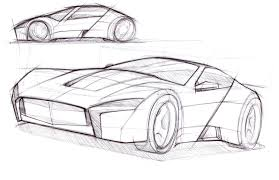car drawing cars by dk typical car sketches