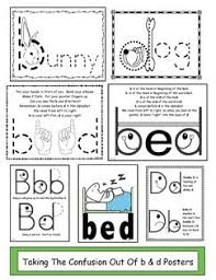 12 best b u0026 d letter reversal activities images on pinterest b