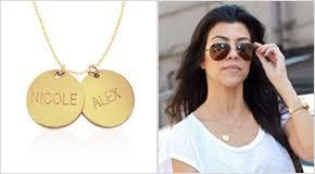 Personalized Disc Necklace Celebrity Name Necklaces Mynamenecklace Uk