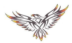 tribal fire bird by wikkedone on deviantart