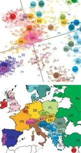 genetic map a gene map of europe mit technology review